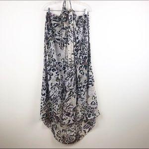Andrew Marc   Sheer Floral Summer Dress   NWOT